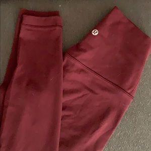 NWOT Lululemon burgundy align pants